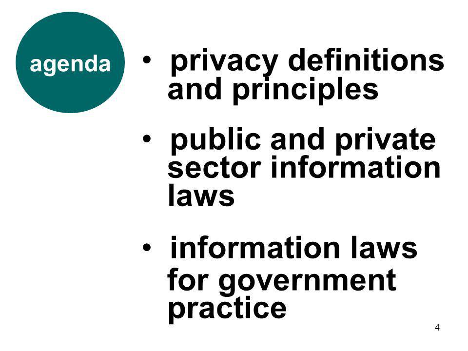 privacy definitions and principles public and private