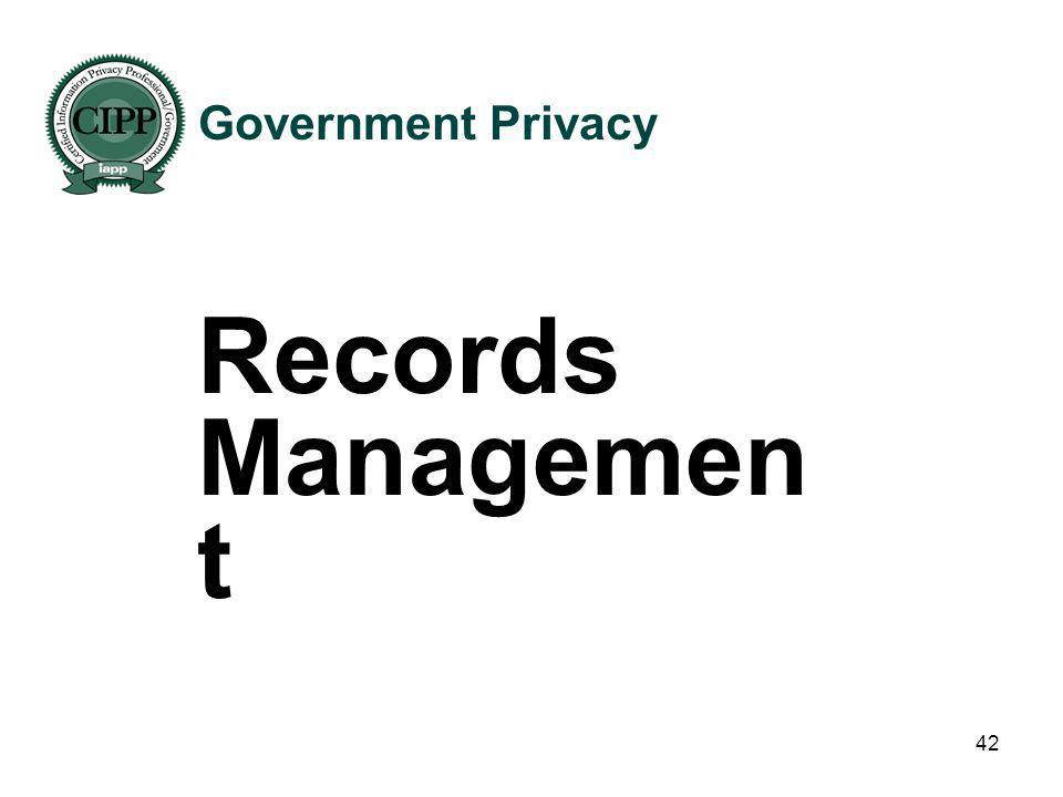 Government Privacy Records Management