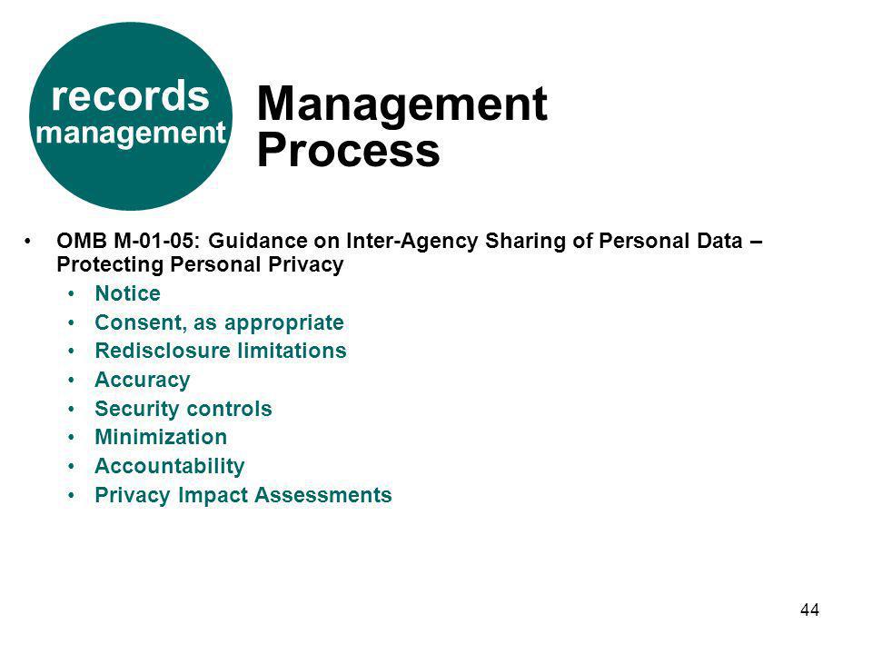 Management Process records management