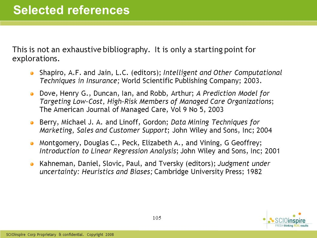 Selected references This is not an exhaustive bibliography. It is only a starting point for explorations.
