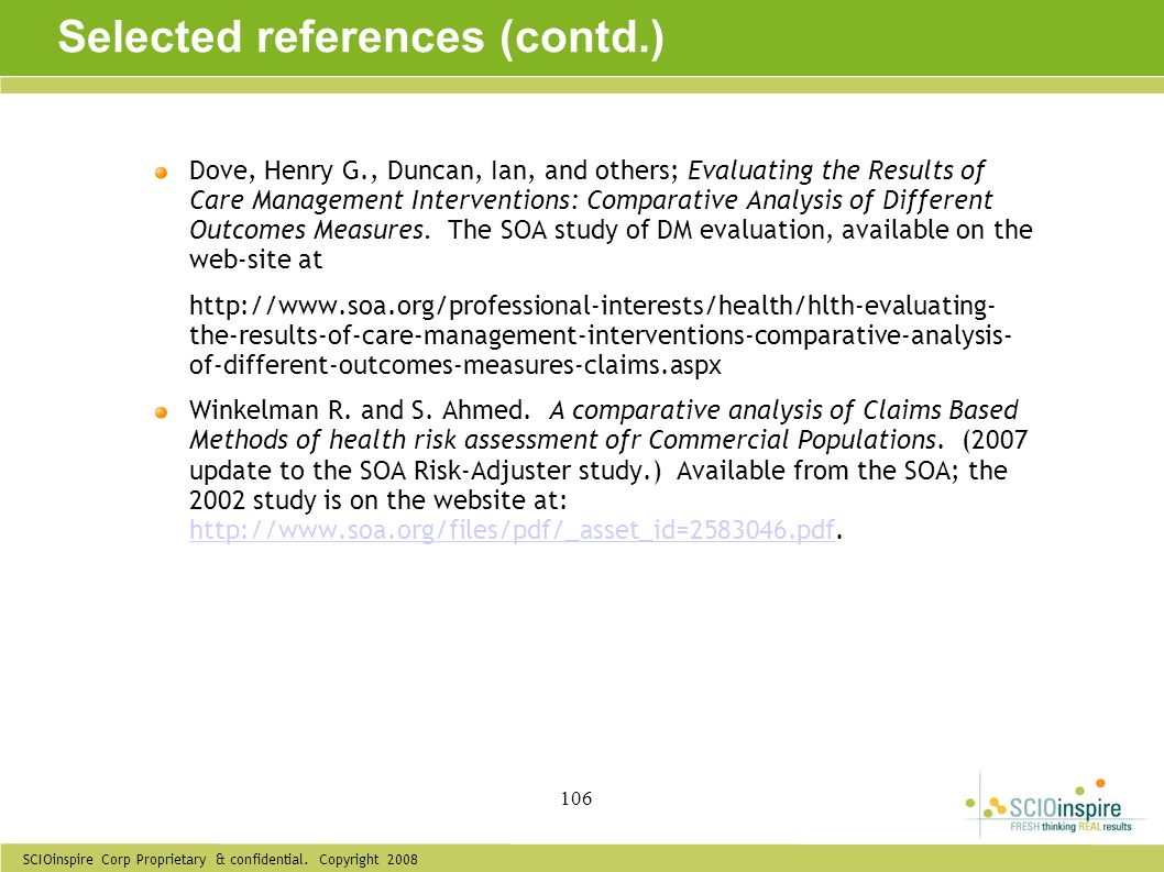 Selected references (contd.)