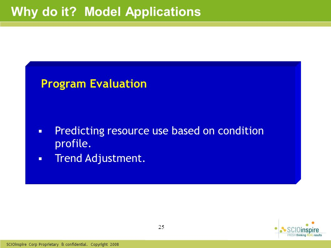 Why do it Model Applications