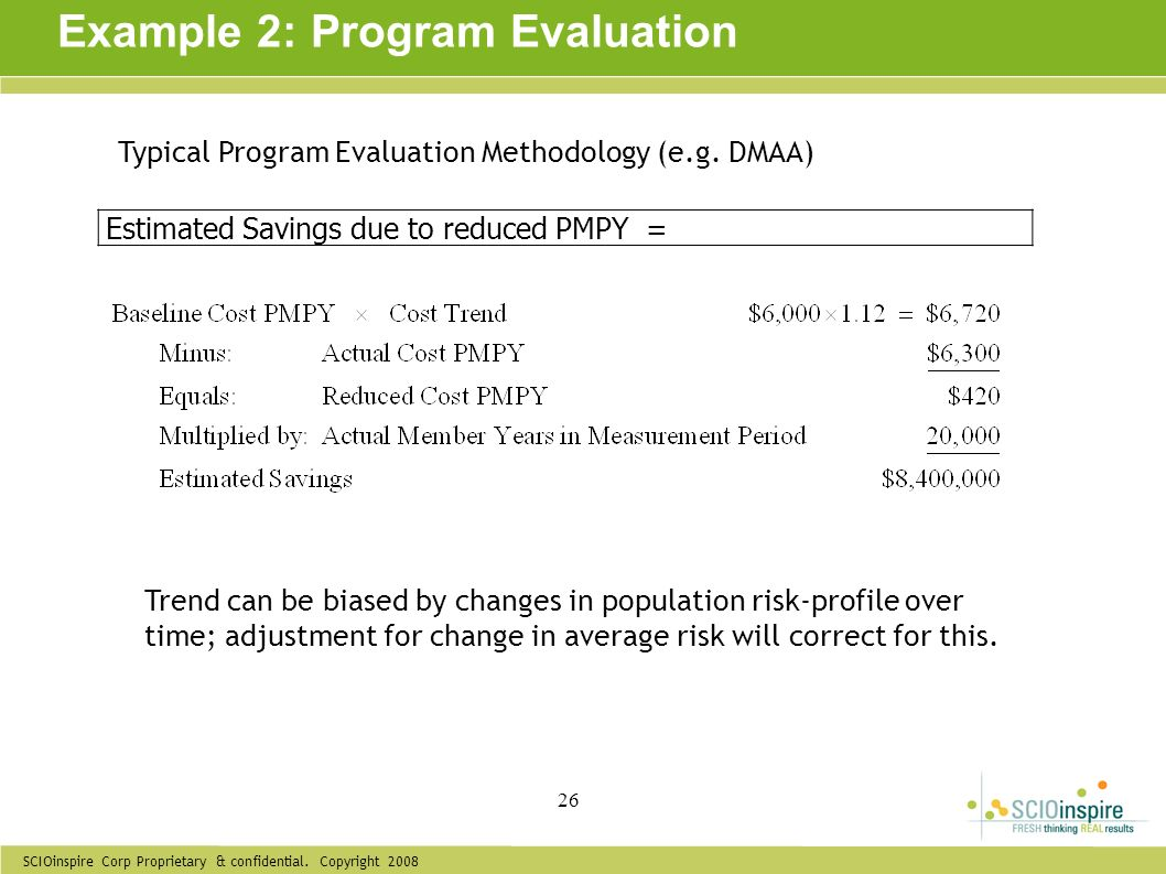 Example 2: Program Evaluation