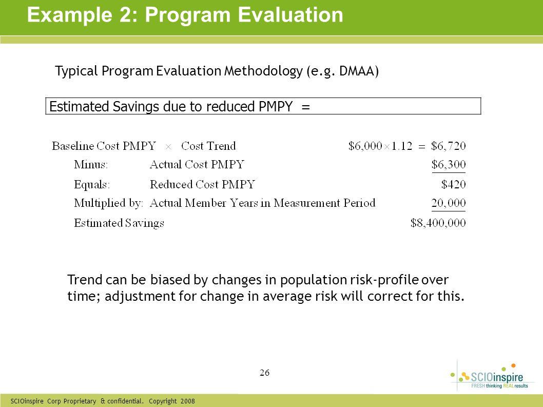 Example 2: Program Evaluation