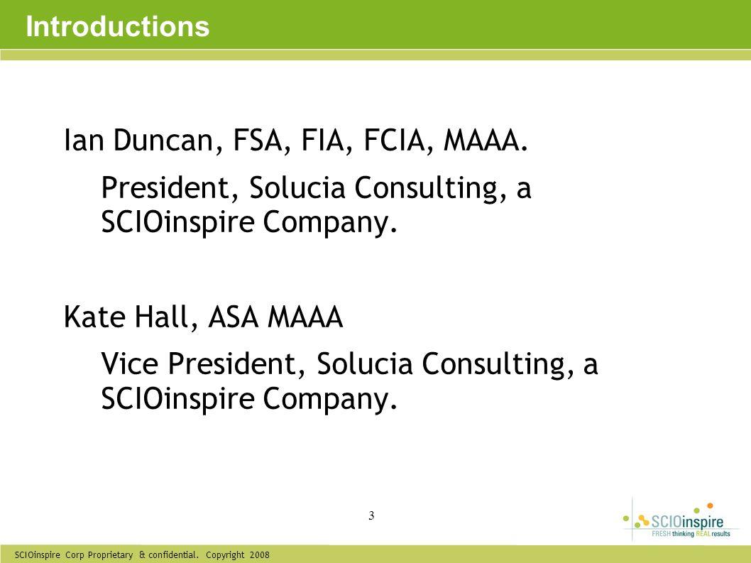 Ian Duncan, FSA, FIA, FCIA, MAAA.