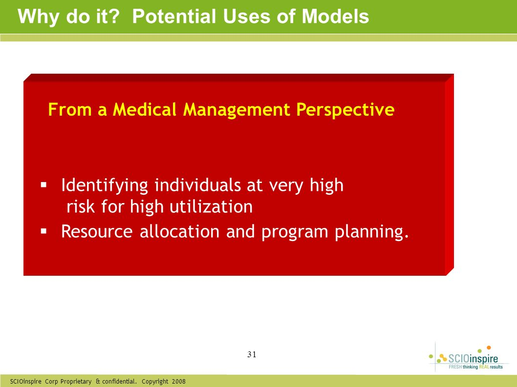 Why do it Potential Uses of Models