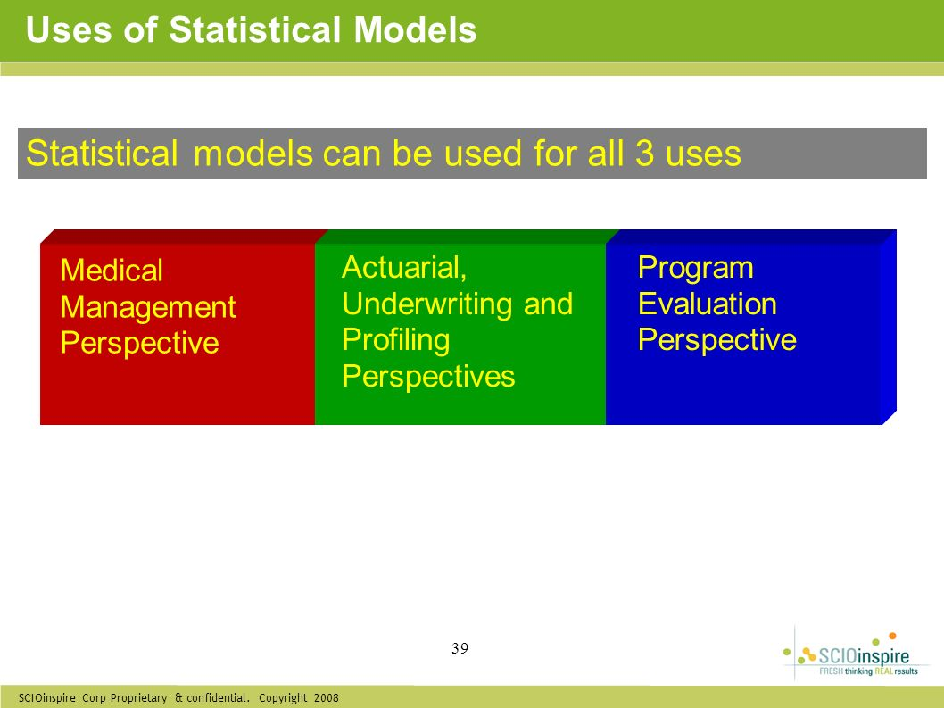 Uses of Statistical Models