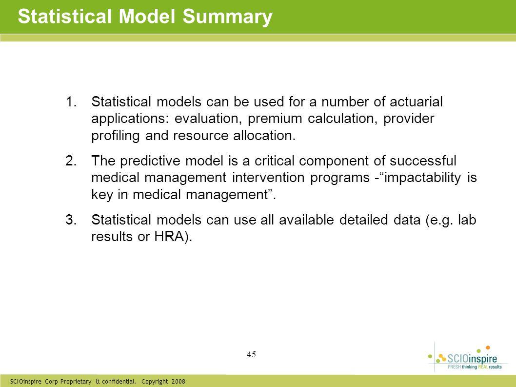 Statistical Model Summary
