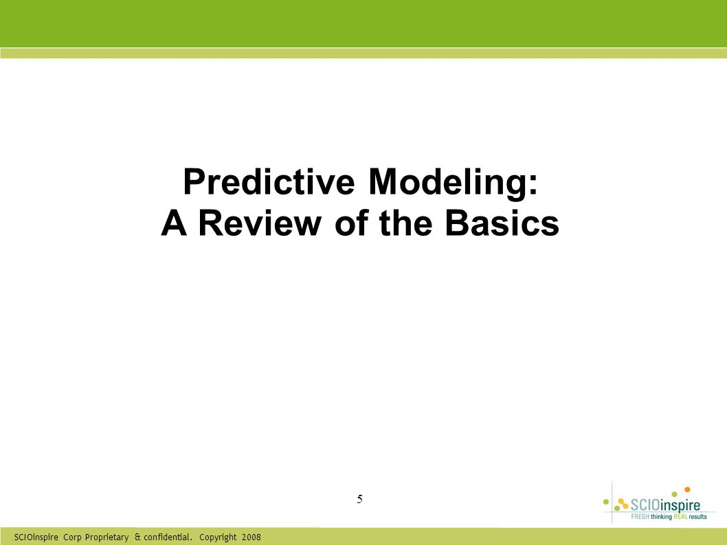 Predictive Modeling: A Review of the Basics
