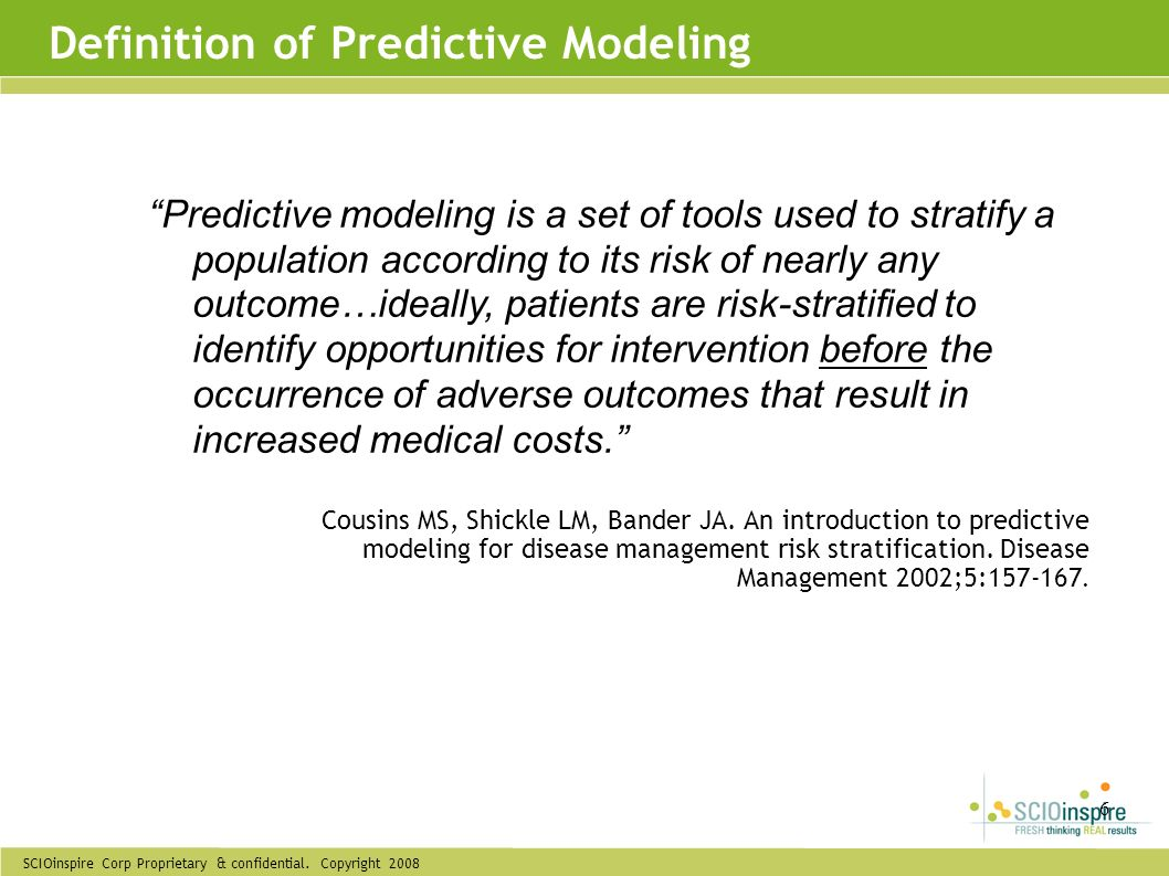 Definition of Predictive Modeling