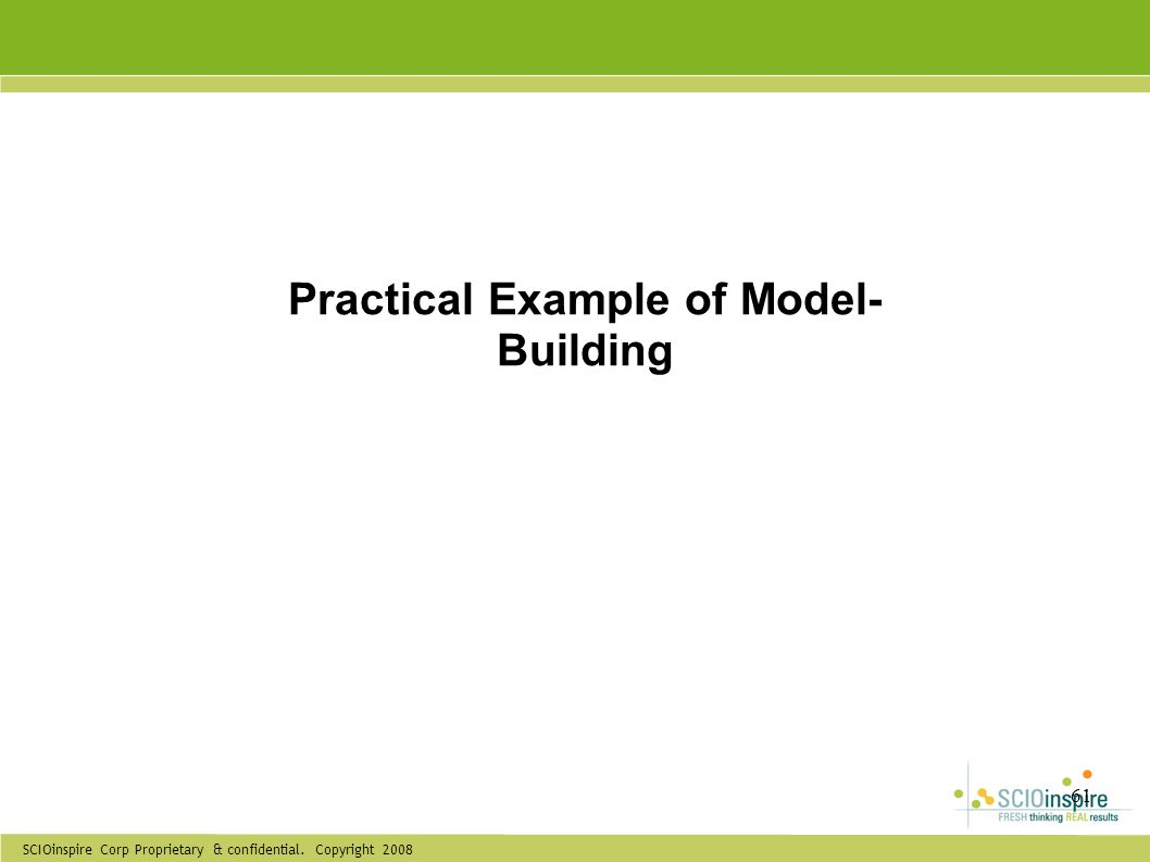 Practical Example of Model-Building