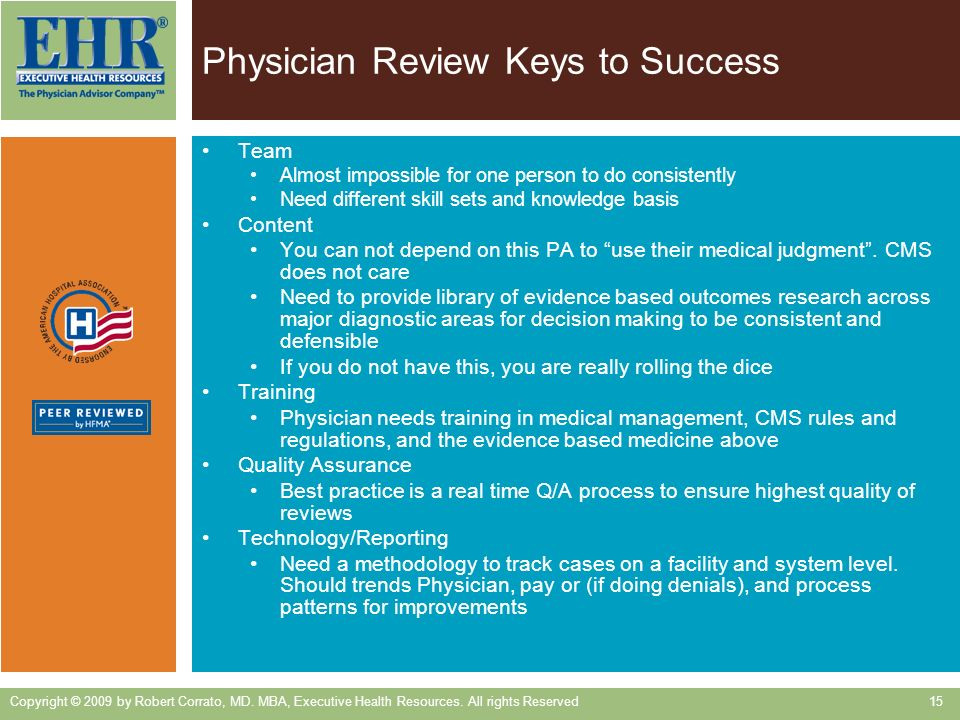 Physician Review Keys to Success