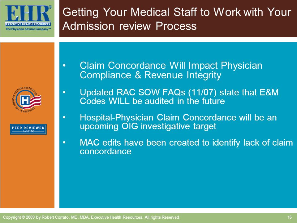 Getting Your Medical Staff to Work with Your Admission review Process