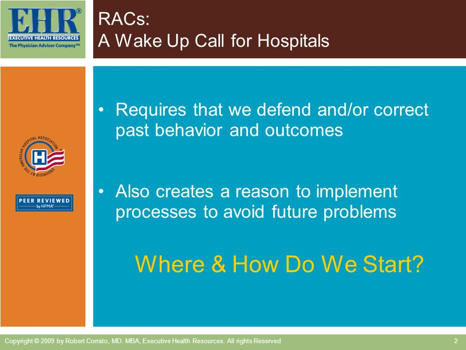 RACs: A Wake Up Call for Hospitals