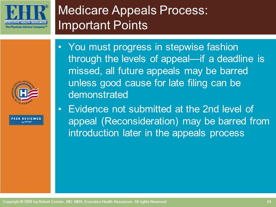 Medicare Appeals Process: Important Points