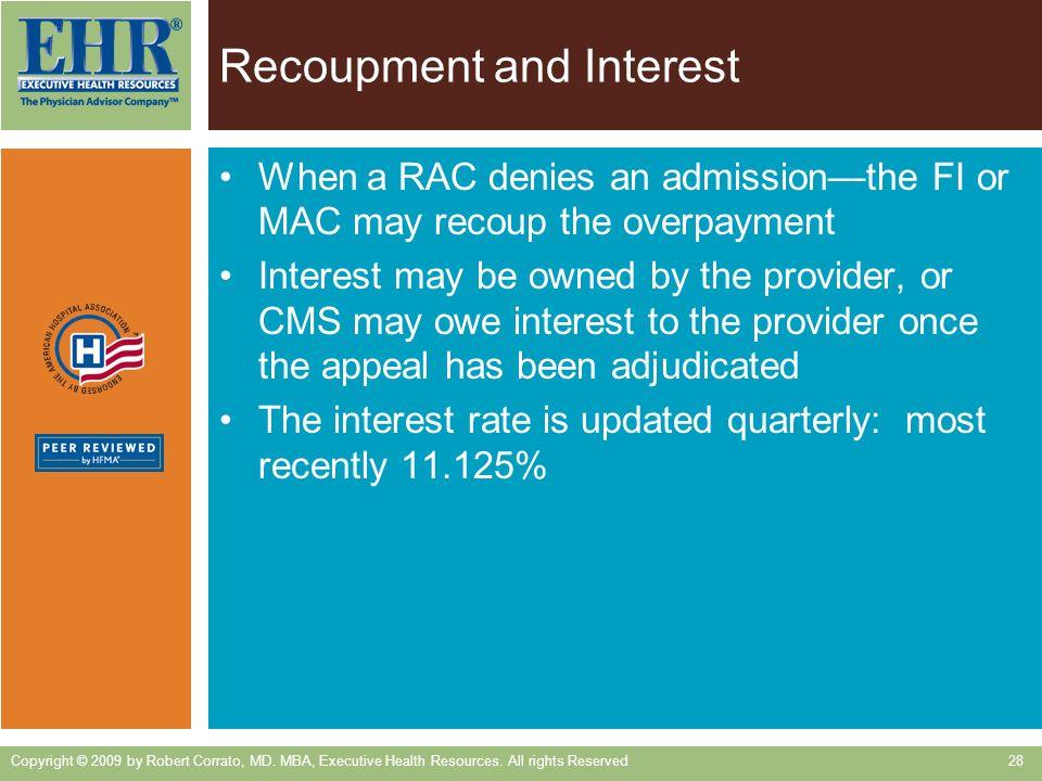 Recoupment and Interest