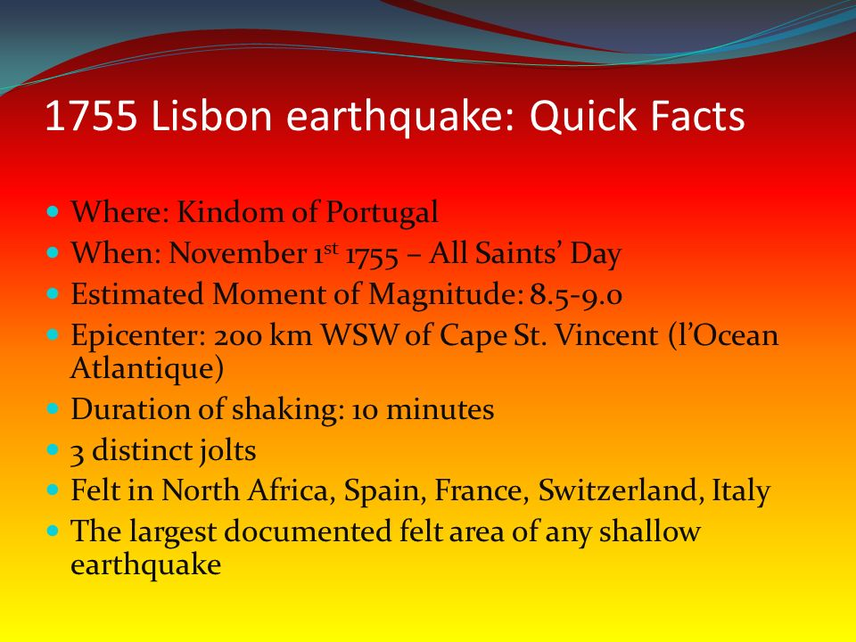 the great lisbon earthquake of ppt video online download