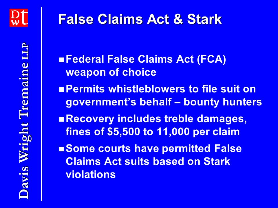 False Claims Act & Stark