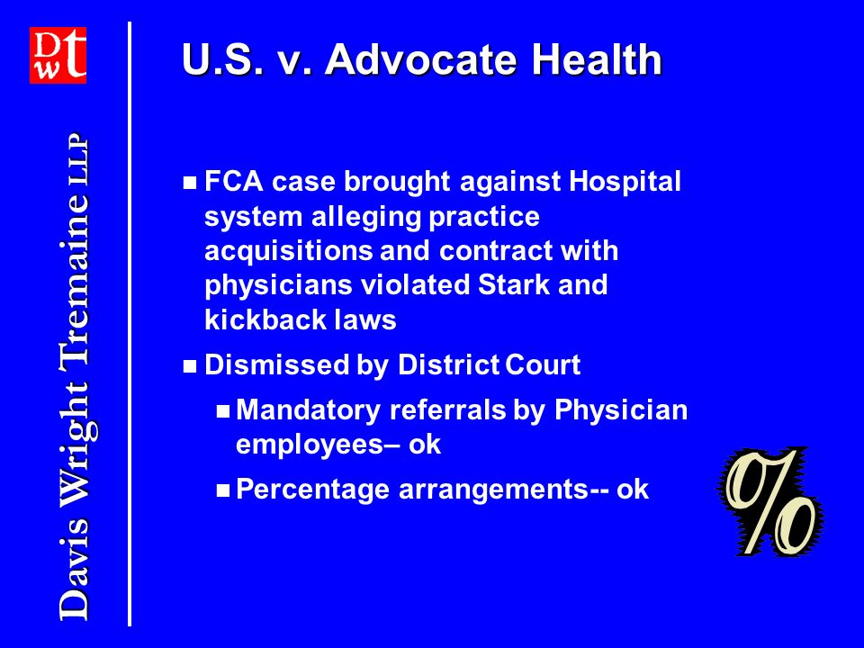 U.S. v. Advocate Health