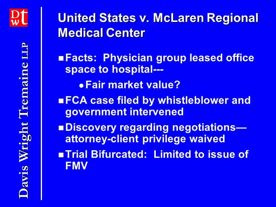 United States v. McLaren Regional Medical Center