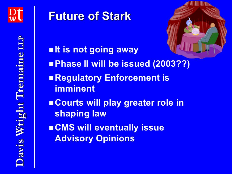 Future of Stark It is not going away Phase II will be issued (2003 )