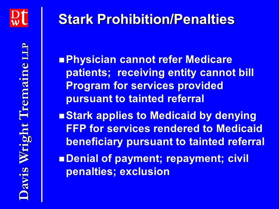 Stark Prohibition/Penalties