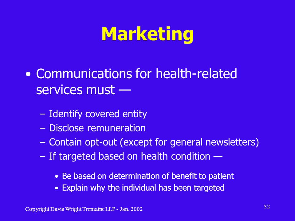 Marketing Communications for health-related services must —