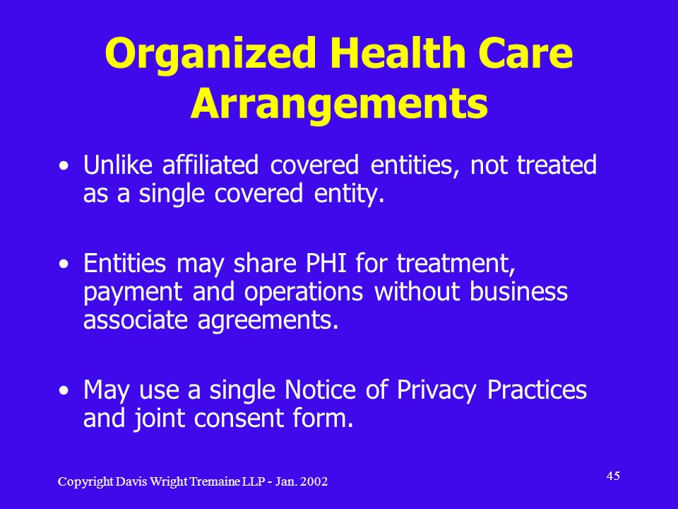 Organized Health Care Arrangements