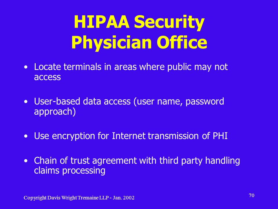 HIPAA Security Physician Office