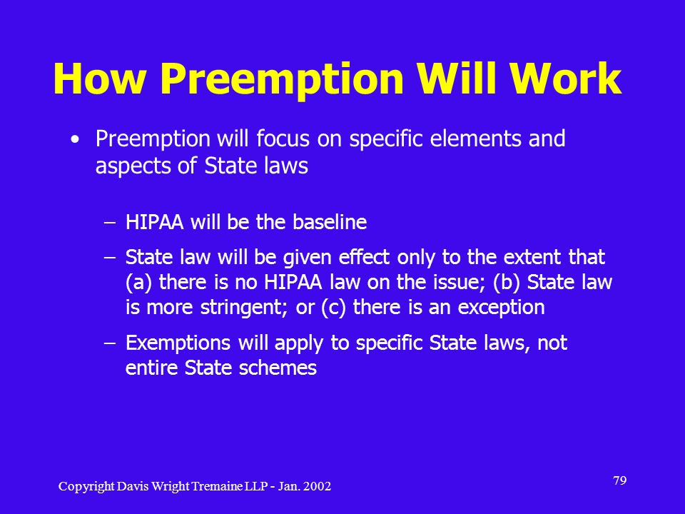 How Preemption Will Work