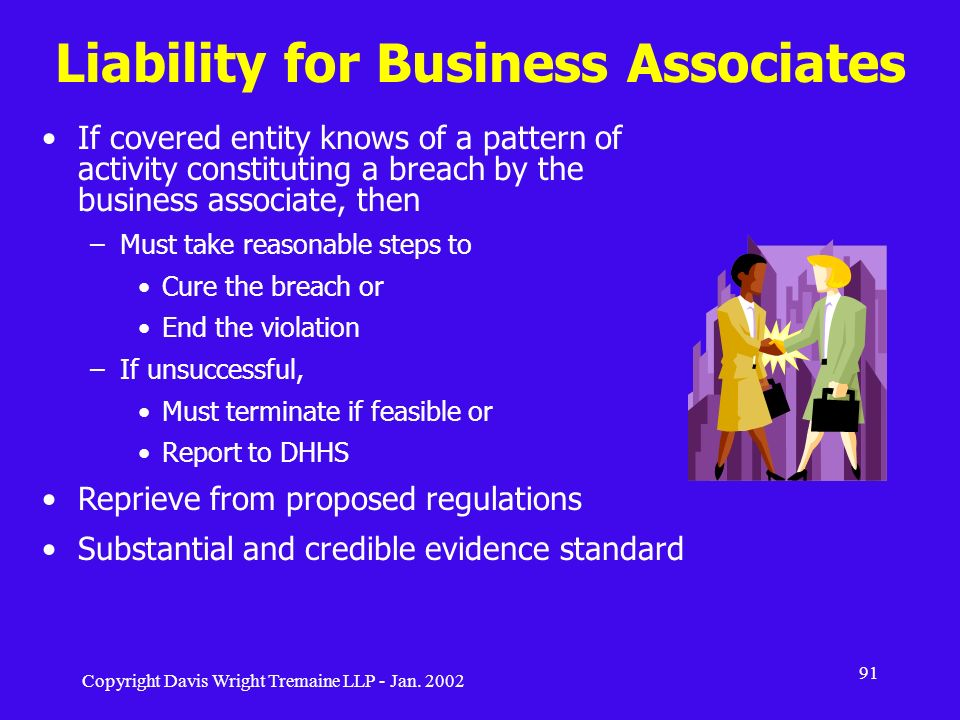 Liability for Business Associates