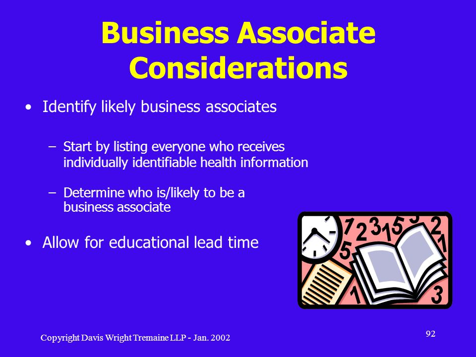 Business Associate Considerations