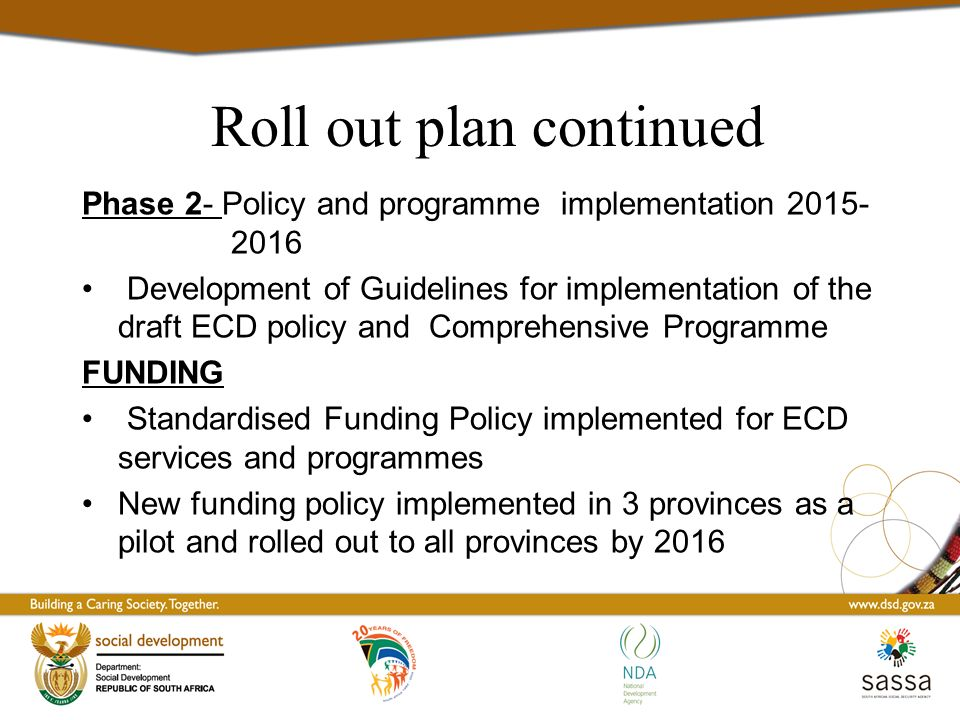 how to develop a policy implementation plan