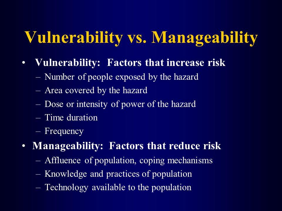 Vulnerability vs. Manageability