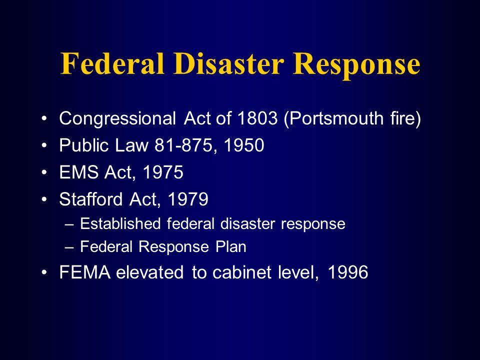 Federal Disaster Response