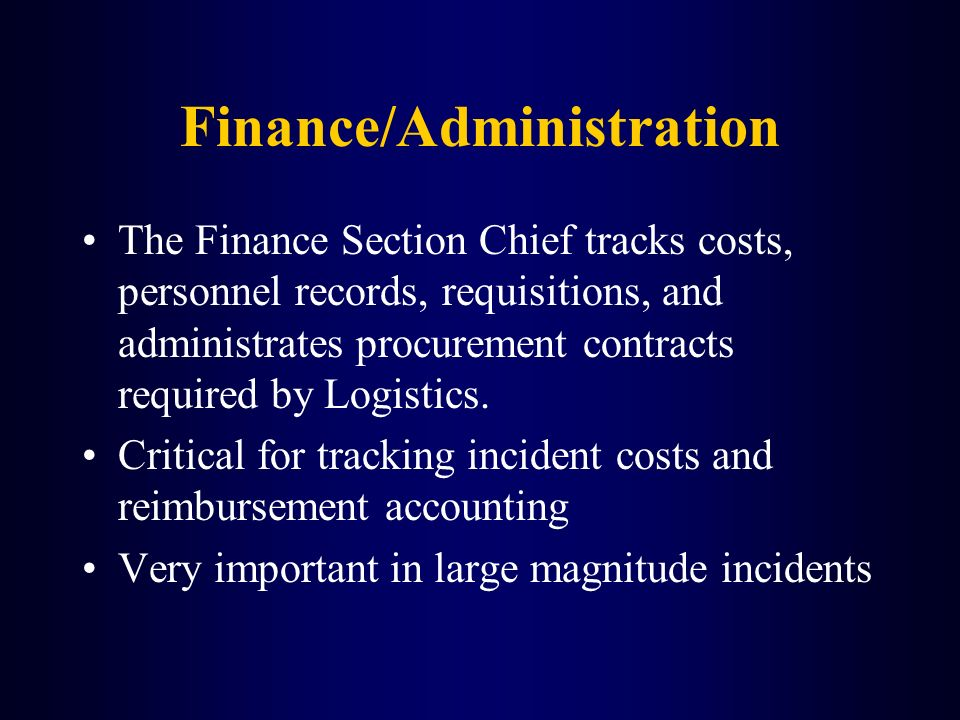 Finance/Administration