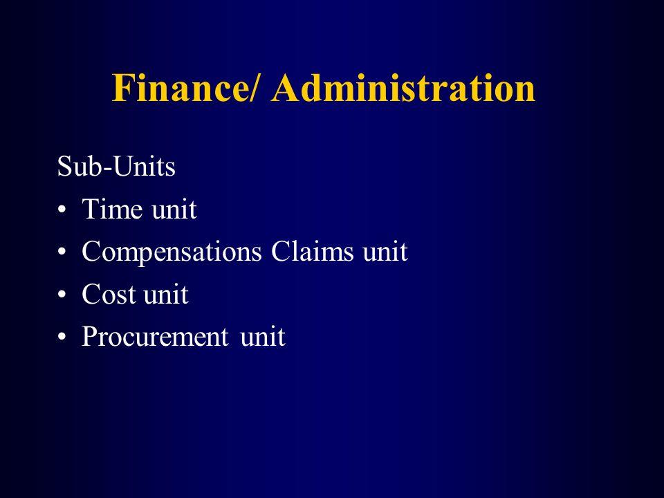 Finance/ Administration