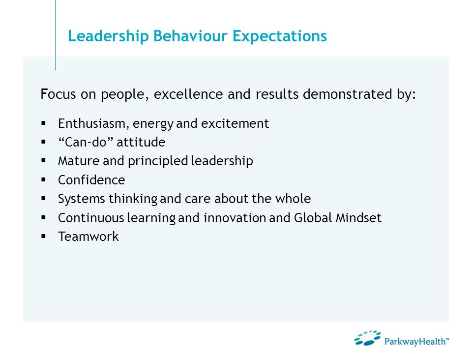 Leadership Behaviour Expectations