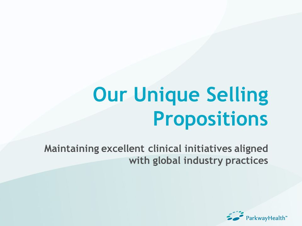 Our Unique Selling Propositions