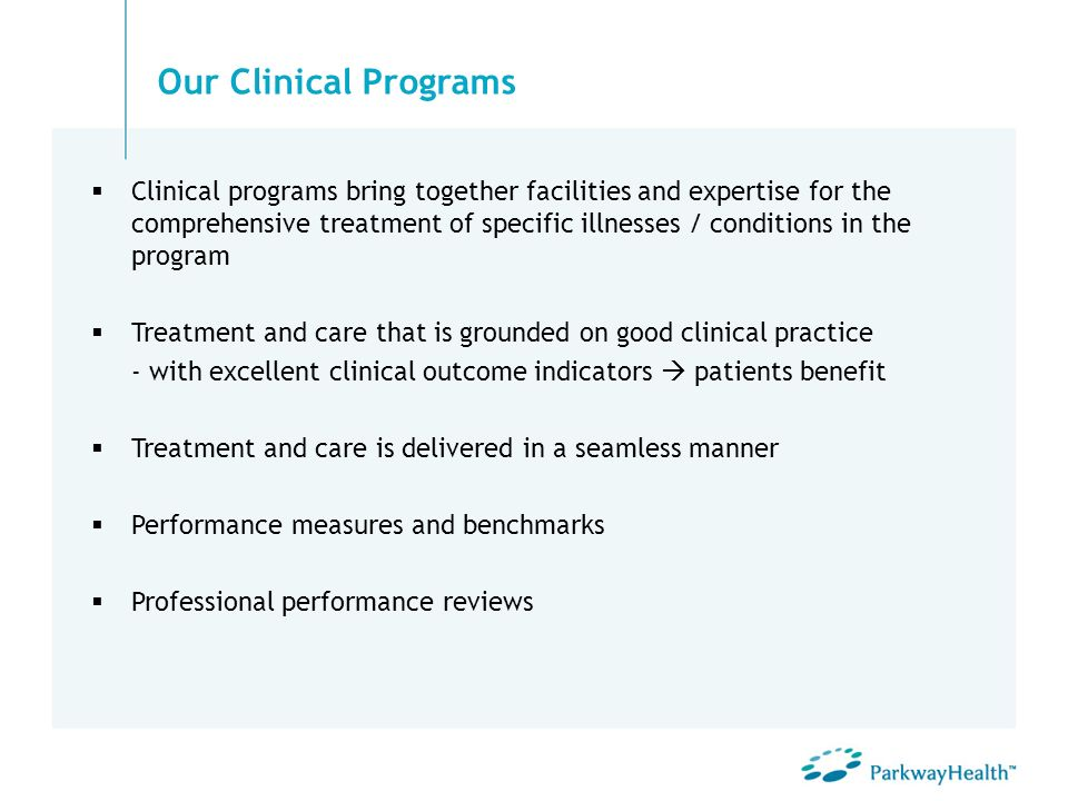 Our Clinical Programs