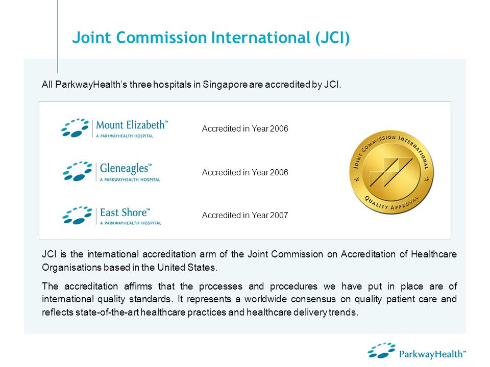 Joint Commission International (JCI)