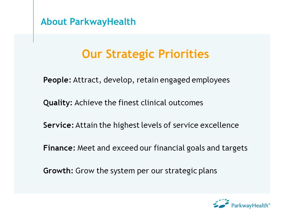 Our Strategic Priorities