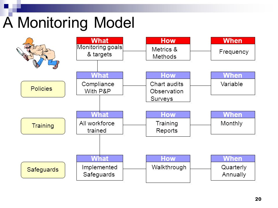 A Monitoring Model What How When What How When What How When What How