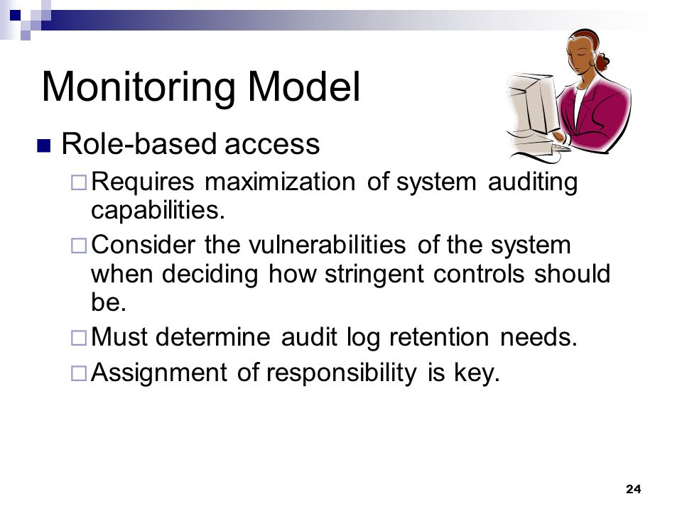 Monitoring Model Role-based access
