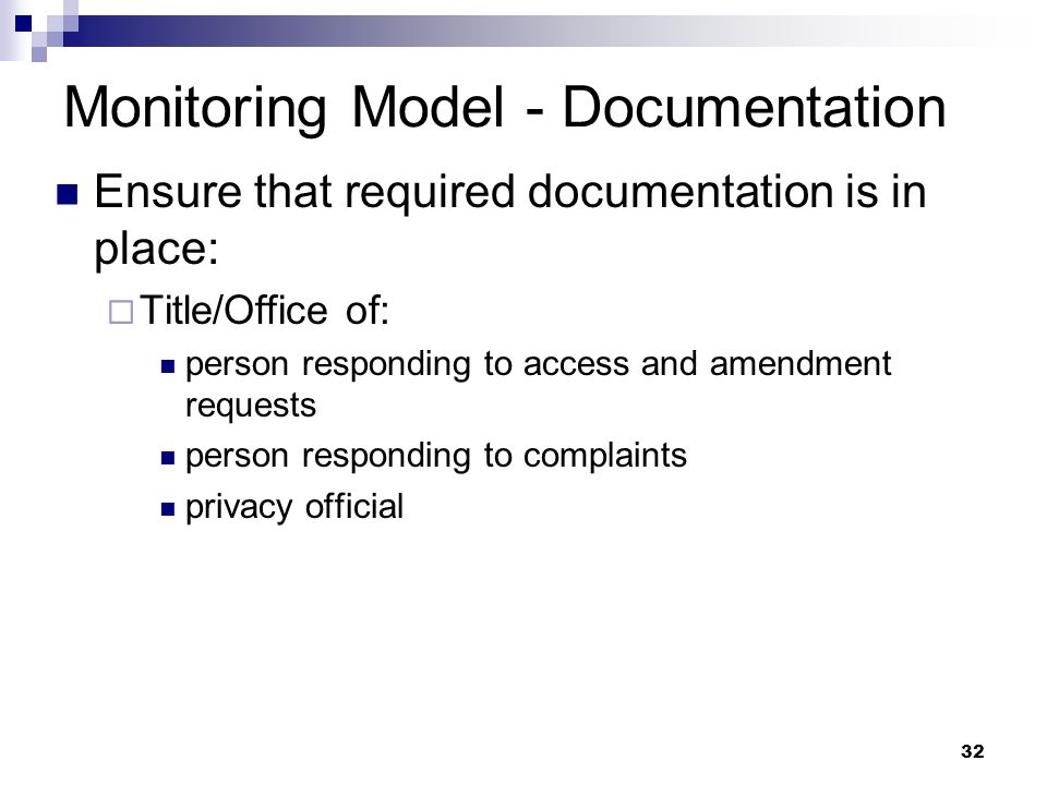 Monitoring Model - Documentation