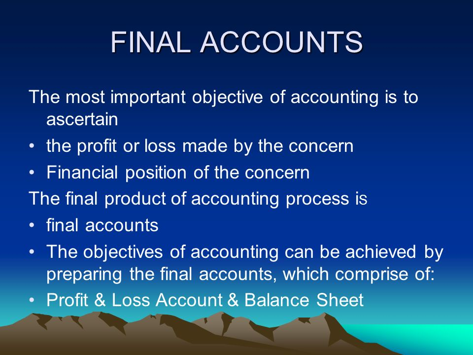 importance of profit and loss account