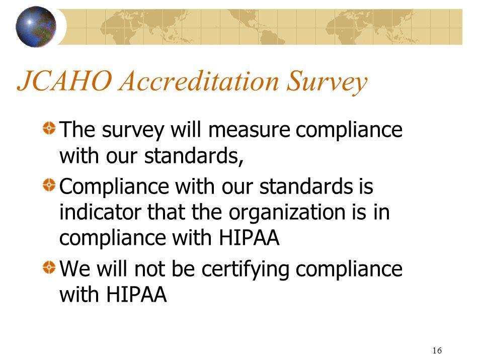 JCAHO Accreditation Survey