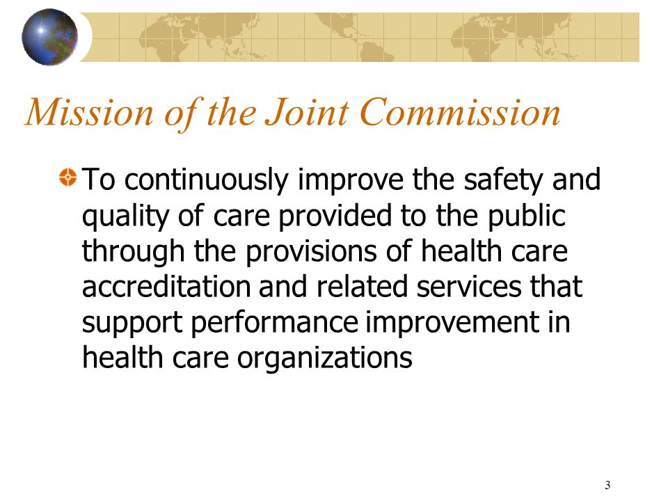 Mission of the Joint Commission