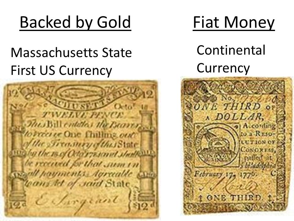 Backed by Gold Fiat Money