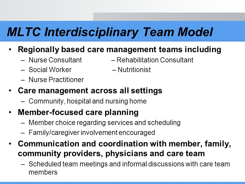 MLTC Interdisciplinary Team Model